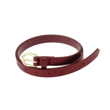 2017 Hot selling super quality high quality fashion skinny belt women leather belt