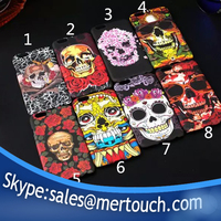 for iphone 6 skull heads case luminous design mobbile phone hard PC back cover case for iphone 6