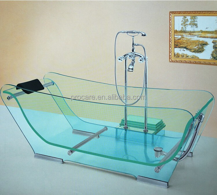 Glass Bathtub good quality clear freestanding glass whirlpool bathtub - buy
