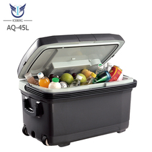 New Products 45L Large Capacity Beer Drinks Foods 12v Cooler Box with Wheels