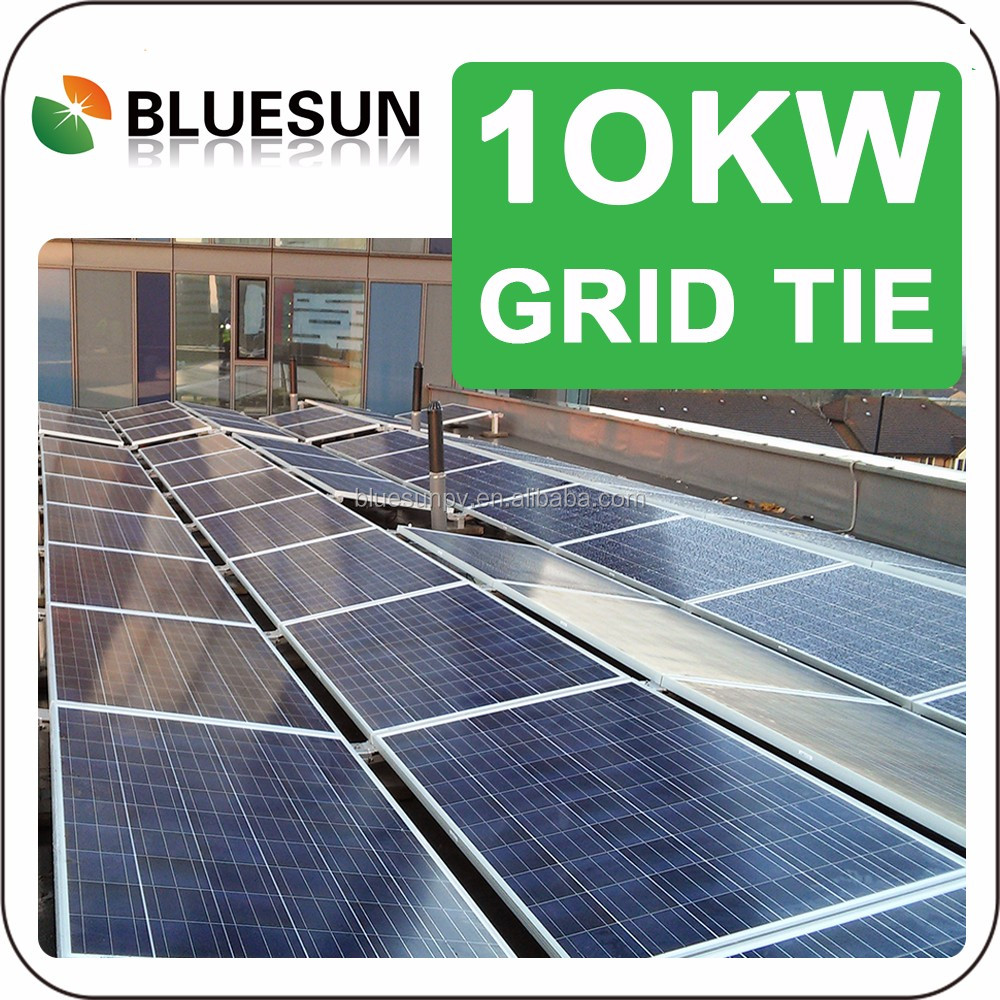 China Manufacture photovoltaic solar panels 10000 on grid solar system 10kw