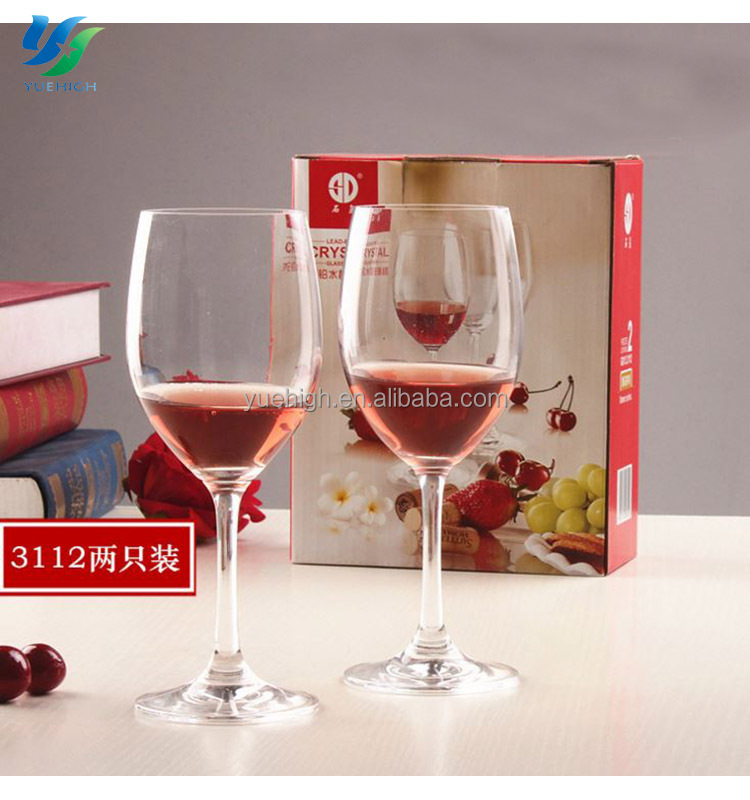 Custom Wine Glass Funny Red Crystal Glassware For Restaurant