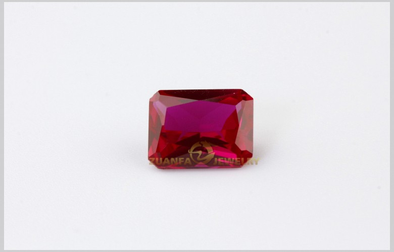octagon cut loose aaa synthetic ruby corundum