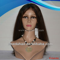 virgin indian human hair long auburn high ponytail full lace wigs