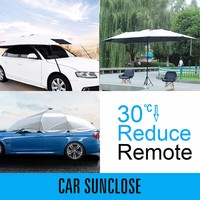 SUNCLOSE custom folding garage car cover fabric and waterproof car cover