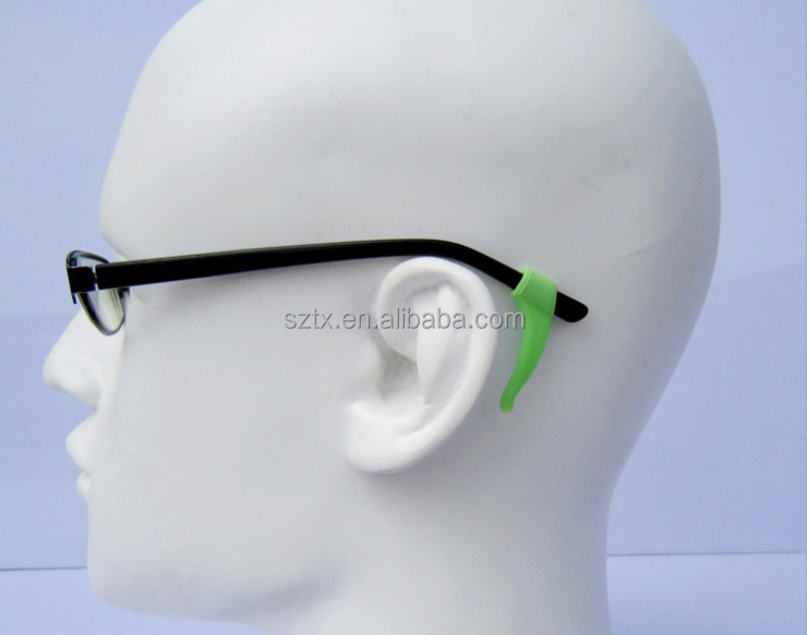 37mm colorful no slip silicone eyeglasses accessories <strong>hook</strong>