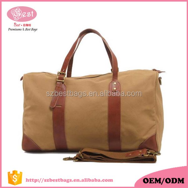 New Design Custom Wholesale Canvas Duffle Men and Woven Travel Bag