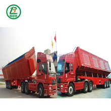 China 40 Feet 3 Axles Used ABS System Tipper Semi Trailer,Semi Trailer For Sale