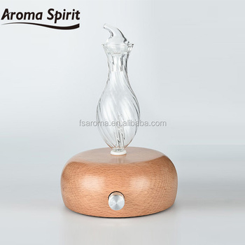 Wood base Aroma Diffuser with LED light