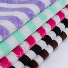 100%polyester wholesale lovely printed flannel minky fabric for Bedding garment blanket baby sets