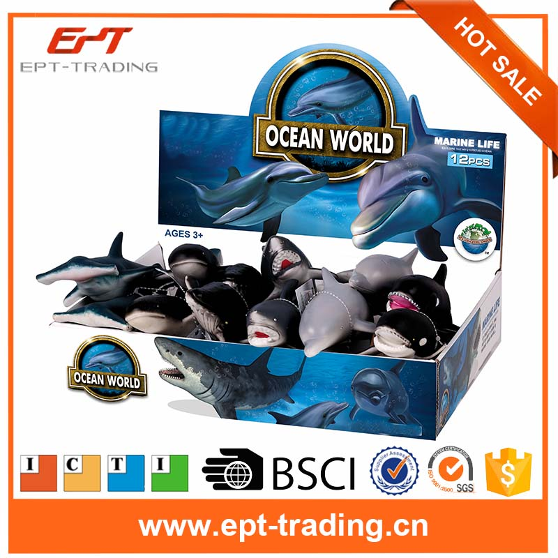 Rubber eco-friendly ocean animal toy marine life model toys