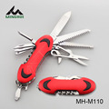 Red color aluminium handle multi function knife