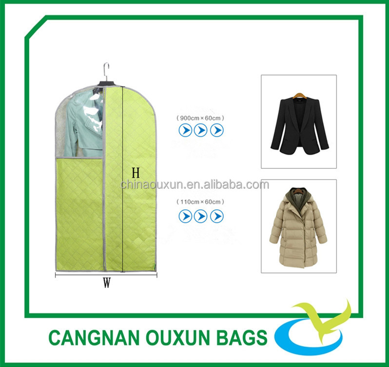 Promotional garment suit dust cover non woven bag for men and women