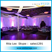 ceiling drape fabric and wedding drape backdrop with high quality pipes and drapes