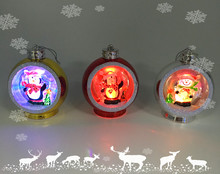 Round Ball Led Lighted Color Changing Christmas Tree Hanging Decorations with lovely scenes