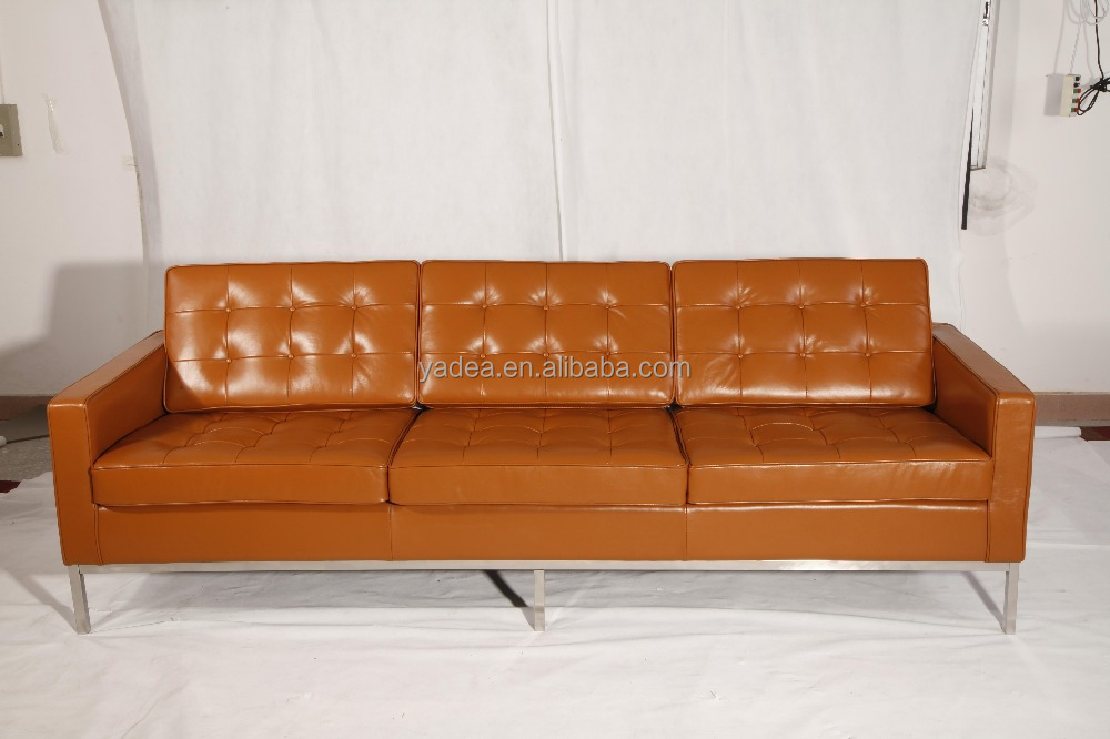 5 star hotel furniture luxury aniline leather Florence knoll sofa sets