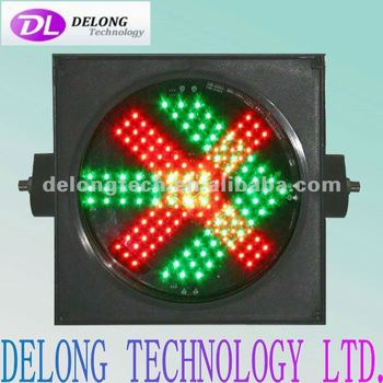 300mm round waterproof single side LED red fork and green arrow led traffic signal light