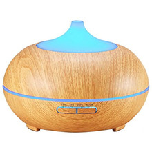 300ML Wood Grain Essential Oil Diffuser for Spa Baby Room Office