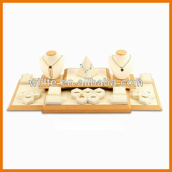 Factory acrylic table jewelry display for jewellery set