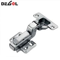 Hot sale iron fix on soft closing full overlay concealed furniture kitchen hinge for cabinet and fittings