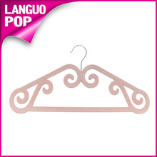 wholesales pink velvet clothes hanger flocked coat hanger