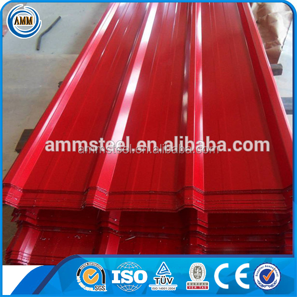 China factory supply lowes metal sheet roofing price with all RAL color