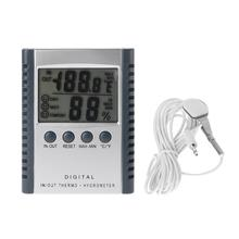 2-in-1 Household Digital Hygrometer and Thermometer with LCD Display for Indoor / Outdoor