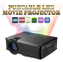 Competive price Mini projector 1500 lumens home theater SD60 led mini video beam Wifi projector better than UC46 UNIC