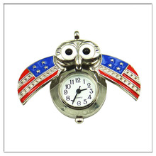 new popular owl flag watch necklace America flag necklace