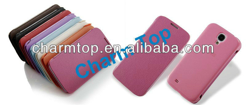 High Quality Leather Flip Case For Samsung i9500 Galaxy S4