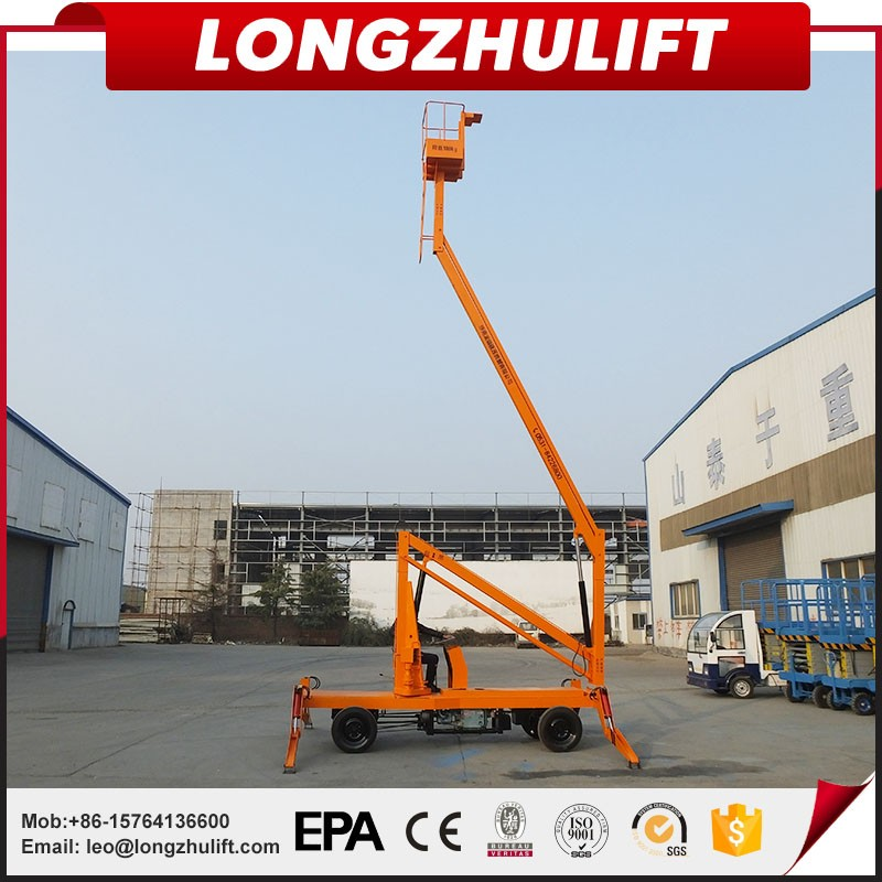 Drivable Diseal Telescopic Hydraulic Crank Arm Lift Platform Boom Lift