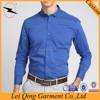 Top sellers designer modern men blue corner shirts