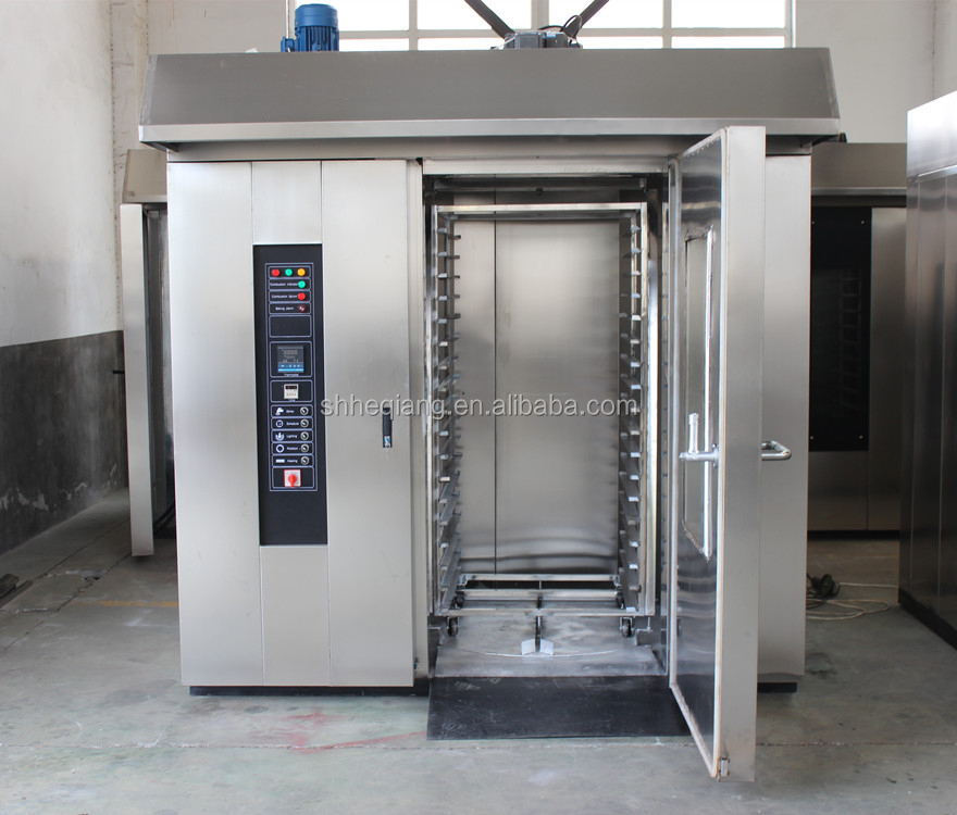 gas/electric/diesel rotary convenction pizza production line oven