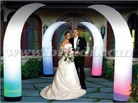 Shiny LED inflatable ivory, lighted tusk/ crescent balloon for wedding or party C3017