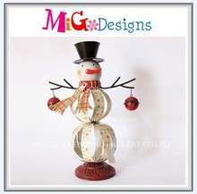 Top Brand Snowman Shaped Metal Christmas Decoration For Xmas