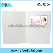 customized 4.3/7inch LCD screen video booklet for advertising