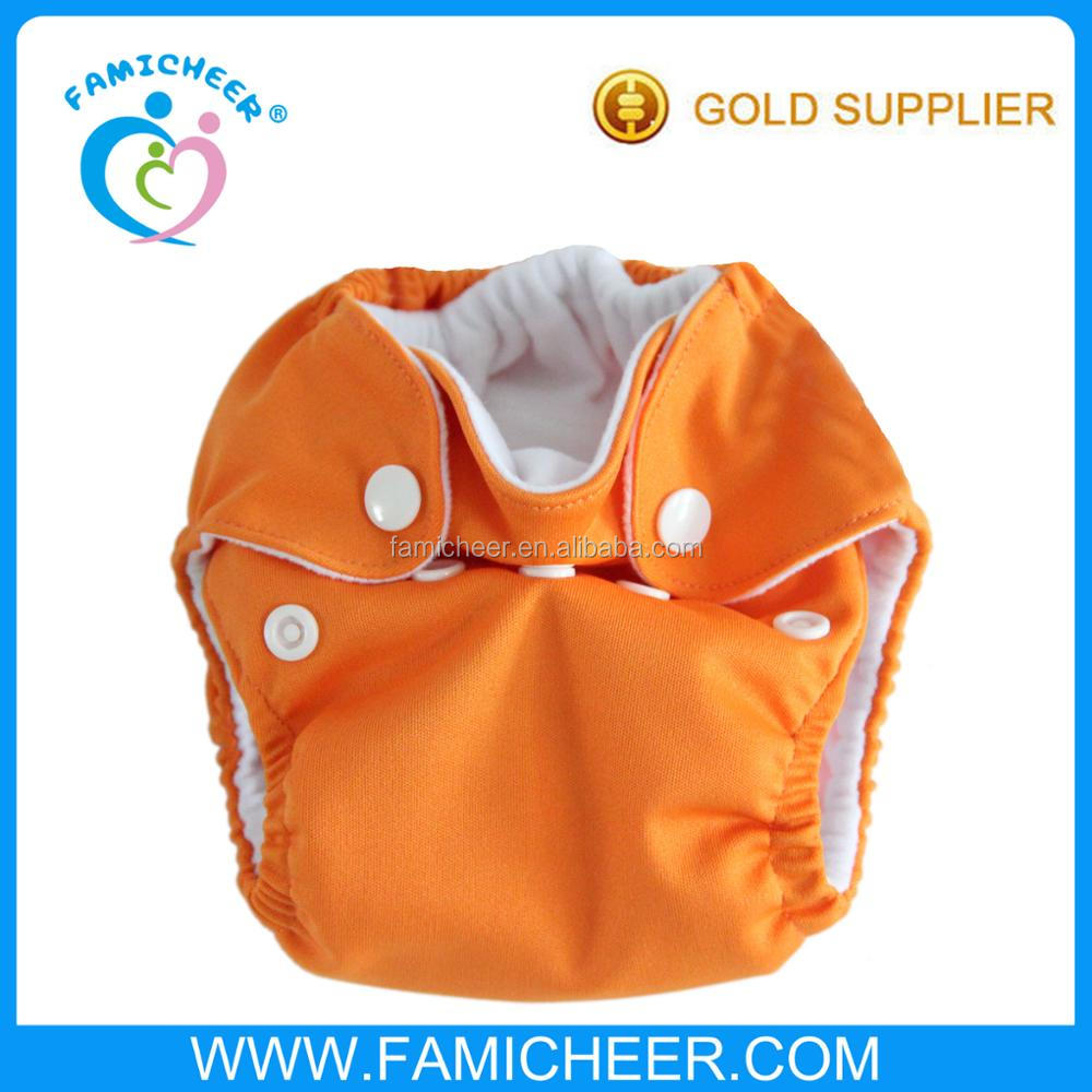 Famicheer Stay Dry Inner Double Gusset Newborn AIO Diaper