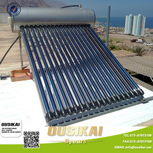 Heat Pipe Vacuum Tube Pressurized Solar Water Heater For Peru