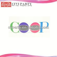 party popper and paper party mask for celebration japanese washi masking tape