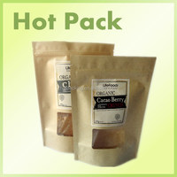 brown paper organic chia seed packaging bag / sunflower seeds packaging bags