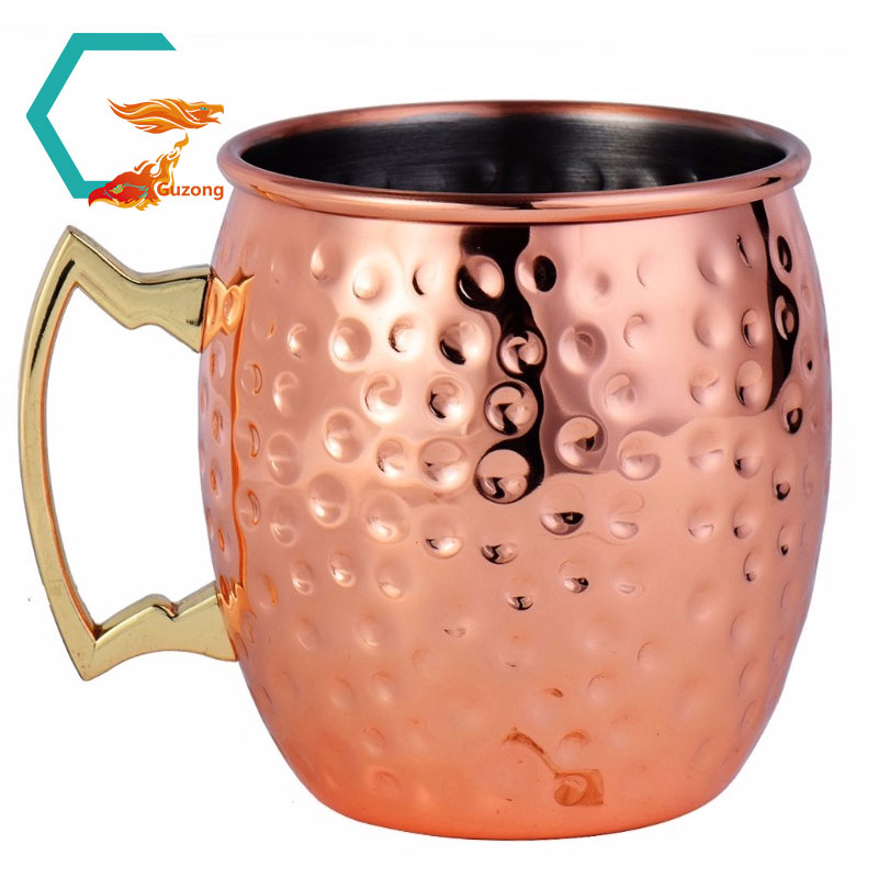 cocktail antique brass and stainless lined solid moscow mule copper mugs <strong>cups</strong> wholesale for smirnoff vodka and ginger beer