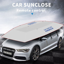 SUNCLOSE solar panel electric automatic front window sunshade waterproof folding car tent