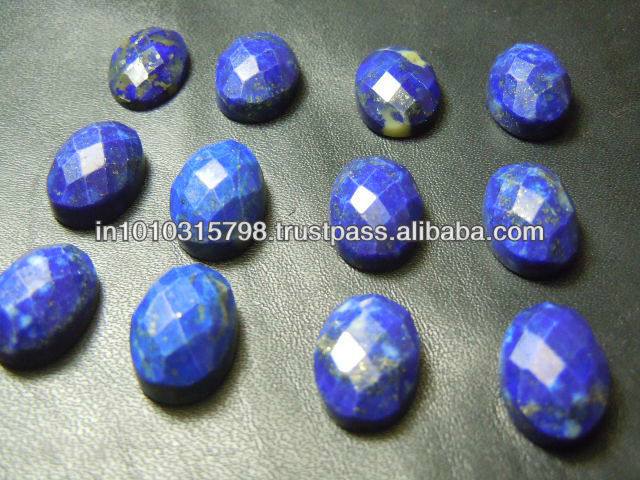 AAA High Quality Lapis Lazuli Rose Cut Gemstone 10x14MM Oval Wholesale Price