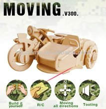 Robotime 2013 hot sale wooden 3D puzzle toy-rc motorbike