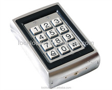 waterproof outdoor standalone access controller rfid steel keypad with card reader