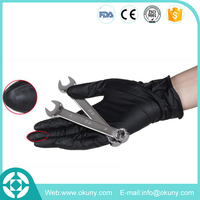 New product chemical resistant black nitrile gloves for working