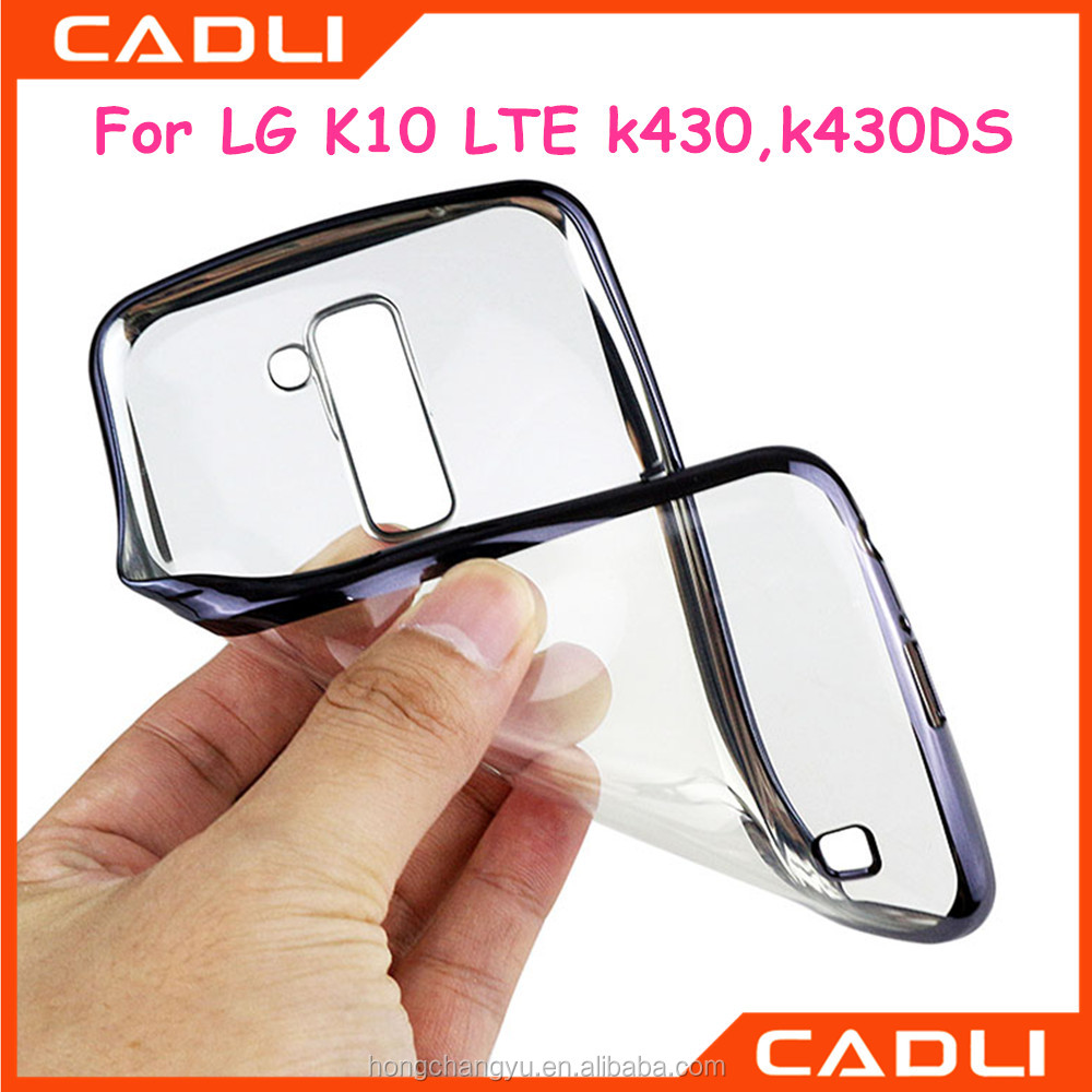 Electroplating Silicone Ultra Thin Soft Transparent TPU Phone Case For LG <strong>K10</strong> LTE K430DS K430