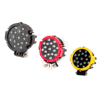 Wholesale 51W car led work light black,yellow,red led driving lamp for car offroad