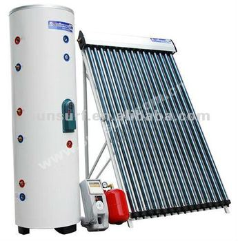 Solar Keymark CE ISO Split High Pressure Solar Hot Water heater With Heat Pipe