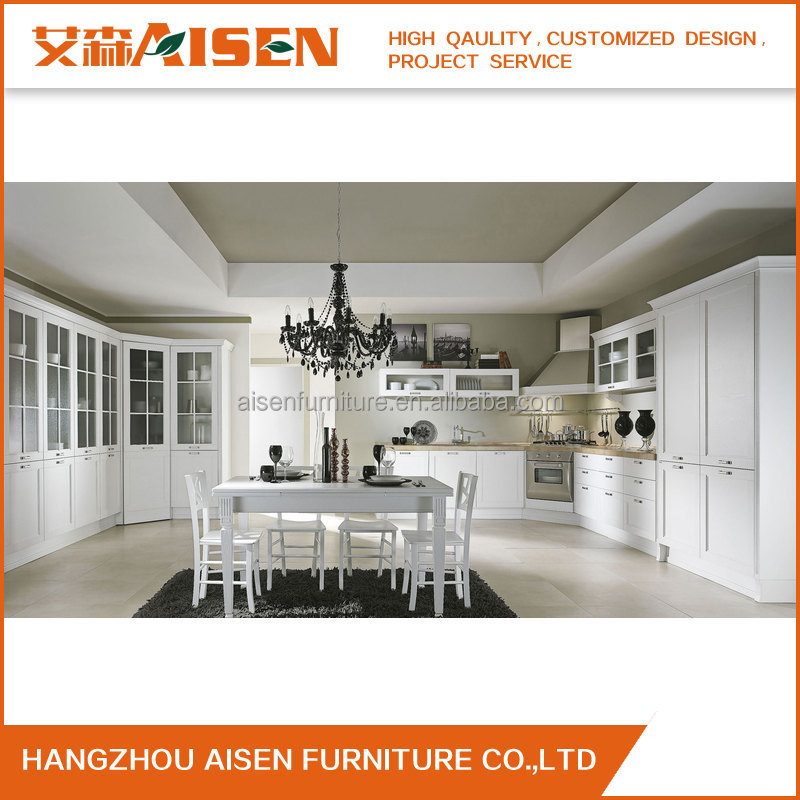 Display solid wood Kitchen Cabinets For Sale Customized Modern Design Kitchen